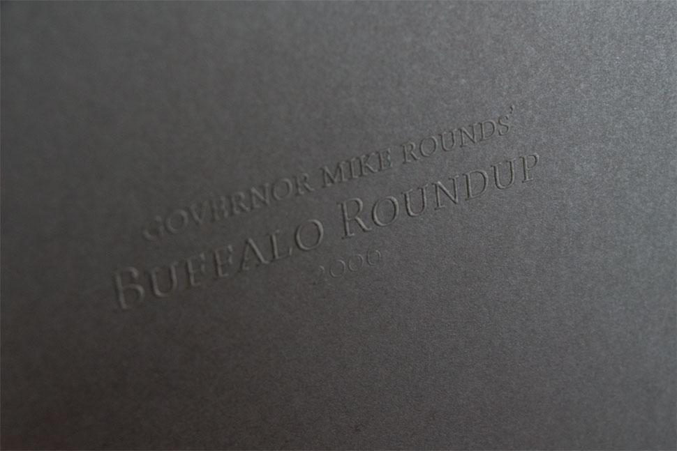 Governer Round's Buffalo Roundup Invitation (close up)